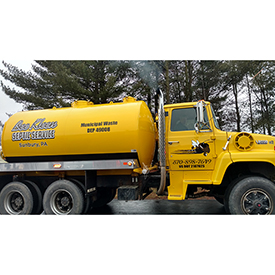 Bee Kleen Septic Service cargo vehicle