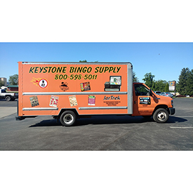 Keystone Bingo Supply cargo vehicle