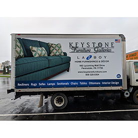 Keystone Furniture Galleries cargo vehicle